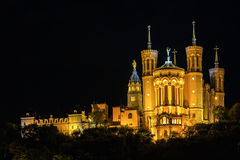 The Notre Dame Cathedral in Lyon, France Stock Photography