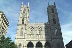 Notre Dame Cathedral in Montreal, Quebec, Canada Stock Image