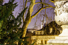 Notre dame cathedral in the night, Luxembourg. Europe Royalty Free Stock Photo