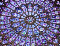 Notre Dame Cathedral North Rose Window stock fotografie