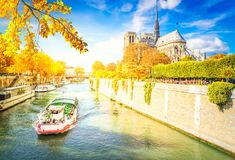 Notre Dame cathedral, Paris France Royalty Free Stock Photos