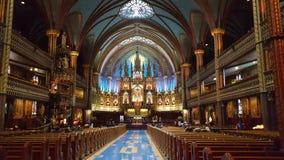 Notre Dame Cathedral på Montréal Arkivfoton