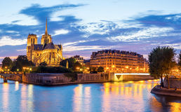Notre Dame Cathedral Panorama Stock Images