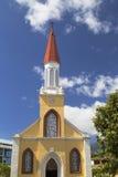Notre Dame Cathedral, Pape'ete, Tahiti, franska Polynesien Arkivbild