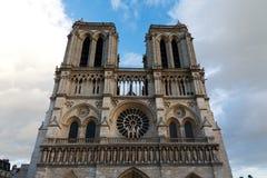 Notre Dame Cathedral, Parigi, Francia. Attrazione turistica di Parigi Fotografia Stock Libera da Diritti