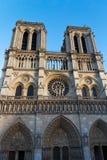 Notre Dame Cathedral, Parijs, Frankrijk. De toeristische attractie van Parijs Royalty-vrije Stock Afbeelding