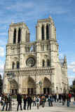 Notre Dame Cathedral, in Paris Royalty Free Stock Image