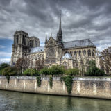 Notre Dame cathedral, Paris. Dark scene of Notre Dame cathedral, Paris Royalty Free Stock Images