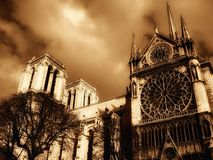 Notre-Dame Cathedral in Paris Royalty Free Stock Image