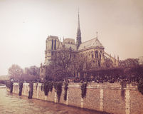 Notre Dame. Cathedral in Paris Royalty Free Stock Photography