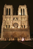 Notre-Dame cathedral in Paris. By night Royalty Free Stock Photos