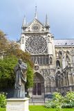 Notre Dame Cathedral in Paris stock image