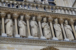 The Notre Dame cathedral of Paris details Stock Image