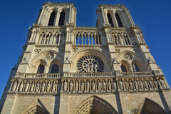 The Notre Dame cathedral of Paris details Royalty Free Stock Images