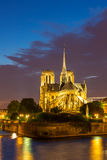Notre Dame Cathedral Paris dusk Royalty Free Stock Photography