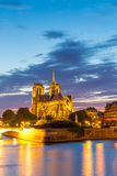 Notre Dame Cathedral Paris dusk Royalty Free Stock Photo