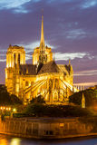 Notre Dame Cathedral Paris dusk Royalty Free Stock Photos