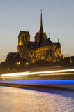 Notre Dame cathedral in Paris in the evening Royalty Free Stock Image