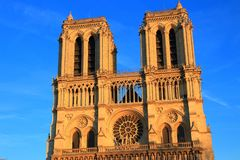 Notre Dame Cathedral in Paris stock images