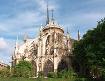Notre Dame Cathedral, Paris, France. Apse of the famous Notre Dame Cathedral in Paris, France royalty free stock images