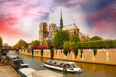 Notre Dame cathedral in Paris, France Stock Photography