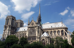 Notre-Dame Cathedral, Paris, France Royalty Free Stock Images