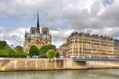 Notre Dame Cathedral. Paris, France. Stock Images