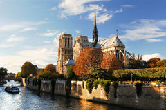 Notre Dame cathedral in Paris, France Stock Photos