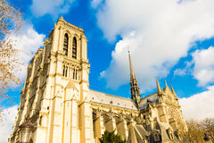 Notre Dame Cathedral in Paris, France Royalty Free Stock Image