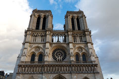 Notre Dame Cathedral, Paris, France. Attraction touristique de Paris Photo libre de droits