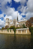 Notre Dame cathedral in Paris, France Stock Images