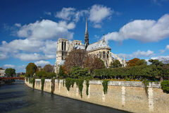 Notre Dame cathedral in Paris, France Royalty Free Stock Photo