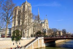 Notre Dame Cathedral in Paris, France Stock Image