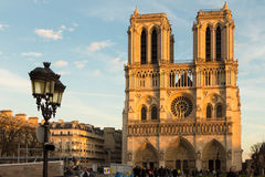 The Notre Dame cathedral, Paris, France. Royalty Free Stock Photography
