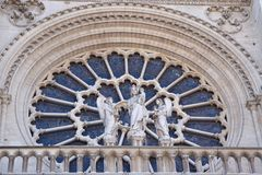 Notre-Dame Cathedral in Paris, France. Europe Royalty Free Stock Photos