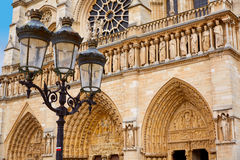 Notre Dame cathedral in Paris France Royalty Free Stock Photography