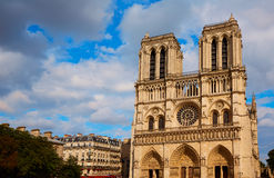 Notre Dame cathedral in Paris France Royalty Free Stock Image