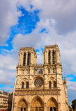 Notre Dame cathedral in Paris France Royalty Free Stock Photo