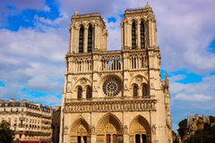Notre Dame cathedral in Paris France Royalty Free Stock Photos