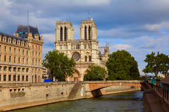 Notre Dame cathedral in Paris France Stock Image