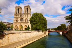 Notre Dame cathedral in Paris France Royalty Free Stock Images