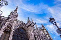 Notre Dame cathedral in Paris, France. Notre Dame gothic cathedral in Paris, France stock photography