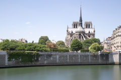 The Notre Dame Cathedral in Paris, France Royalty Free Stock Photography