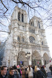 Notre-Dame cathedral in Paris, France Royalty Free Stock Photos