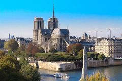 The Notre Dame Cathedral , Paris, France. Stock Image