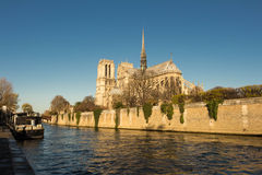 The Notre dame cathedral, Paris, France. Royalty Free Stock Image