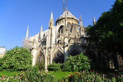 The Notre Dame cathedral of Paris Stock Photos