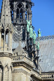 He Notre Dame cathedral of Paris Royalty Free Stock Photography