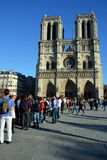 He Notre Dame cathedral of Paris Royalty Free Stock Image