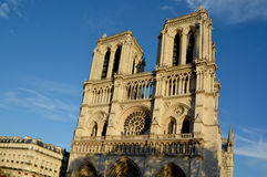 He Notre Dame cathedral of Paris Stock Image